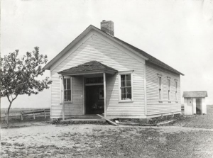 One Room Schoolhouse in Matteson.  Credit:  Wisconsin Historical Society. Image ID: 76131